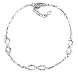 Jewelry - Sterling Silver Triple Infinity Bracelet